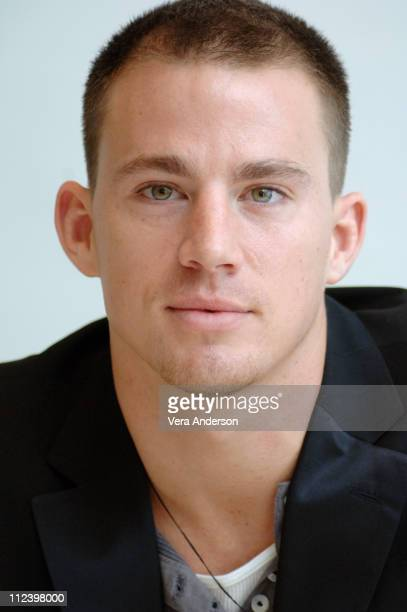 Channing Tatum during 'Step Up' Press Conference with Channing Tatum and Jenna Dewan at Four Seasons Hotel in Beverly Hills California United States
