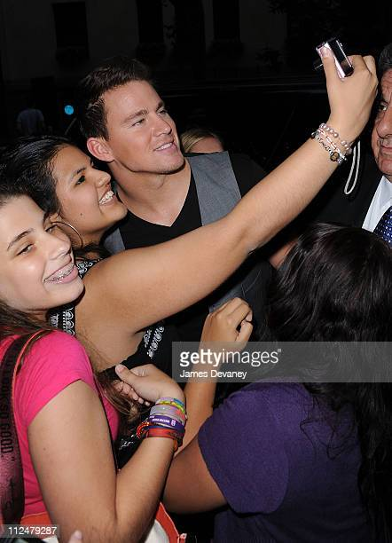 Channing Tatum greets fans on the streets of Manhattan on August 3 2009 in New York City