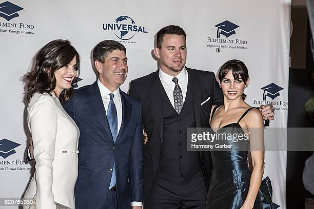 Channing Tatum Jenna Dewan Jeff Shell and Laura Shell arrive at the 22nd Fulfillment Fund Stars Benefit Gala at The Globe Theatre at Universal...