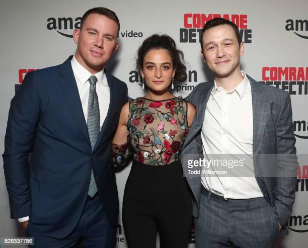 "Channing Tatum, Jenny Slate and Joseph Gordon-Levitt attend the Amazon Prime Video Premiere Of Original Comedy Series ""Comrade Detective"" In Los..."