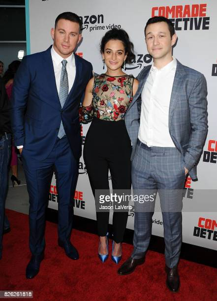 Channing Tatum Jenny Slate and Joseph GordonLevitt attend the premiere of 'Comrade Detective' at ArcLight Hollywood on August 3 2017 in Hollywood...