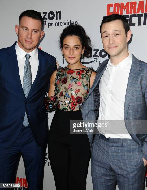 """Channing Tatum, Jenny Slate and Joseph Gordon-Levitt attend the premiere of """"Comrade Detective"""" at ArcLight Hollywood on August 3, 2017 in Hollywood,..."""