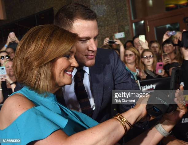 Channing Tatum meets with fans during Logan Lucky Tennessee Benefit Screening For Variety The Children's Charity at Regal Pinnacle Stadium 18 on...