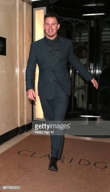 Channing Tatum seen leaving his hotel and arriving at Annabel's club in Mayfair on June 4 2018 in London England