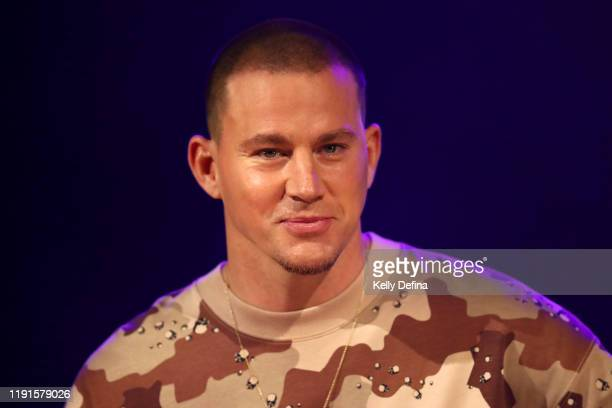 Channing Tatum speaks during a media call on December 03 2019 in Melbourne Australia