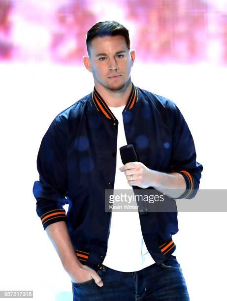 Channing Tatum speaks onstage at Nickelodeon's 2018 Kids' Choice Awards at The Forum on March 24 2018 in Inglewood California