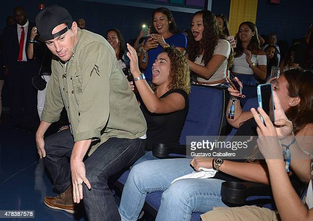 Channing Tatum surprise audience at 'Magic Mike XXL' screening at Regal South Beach on June 24 2015 in Miami Florida