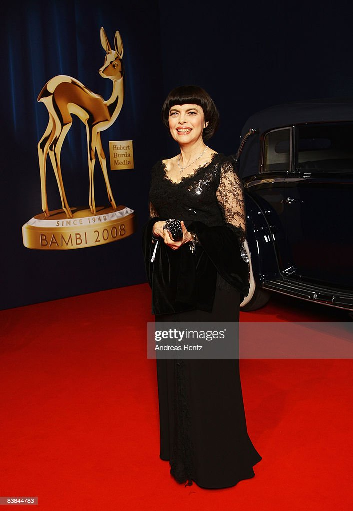 Chanson singer Mireille Mathieu arrives at the Bambi Awards 2008 on November 27 2008 in Offenburg Germany