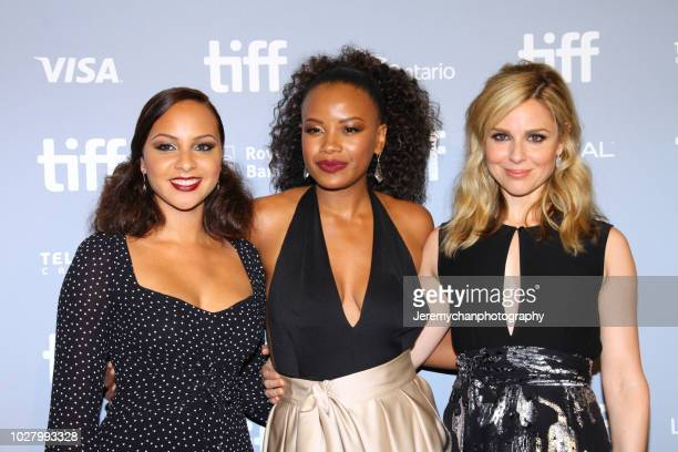 Chanté Adams Jasmine Cephas Jones and Cara Buono attend the Monsters And Men Premiere during the 2018 Toronto International Film Festival at TIFF...