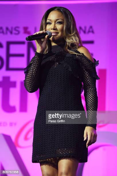 Chanté Moore performs onstage at the 2017 ESSENCE Festival presented by CocaCola at Ernest N Morial Convention Center on July 2 2017 in New Orleans...