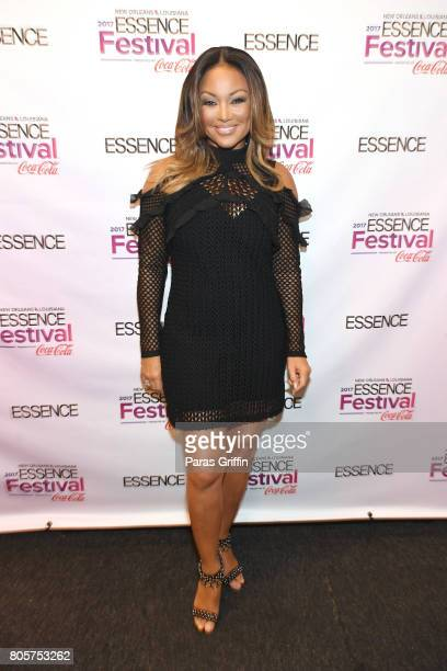 Chanté Moore poses backstage at the 2017 ESSENCE Festival presented by CocaCola at Ernest N Morial Convention Center on July 2 2017 in New Orleans...