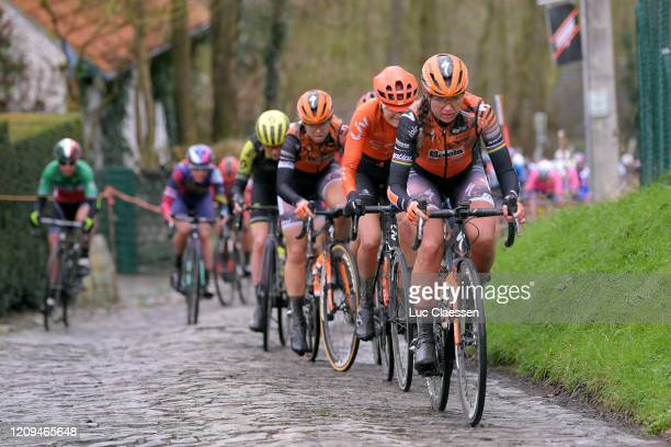 Chantal Blaak of The Netherlands and Boels Dolmans Cycling Team / Jeanne Korevaar of The Netherlands and Team CCC - Liv / Jip Van Den Bos of The...