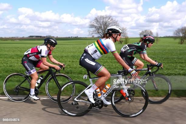 Chantal Blaak of The Netherlands and Team Boels Dolmans Cyclingteam / Esther Van Veen of The Netherlands and Team Parkhotel Valkenburg / Sara...