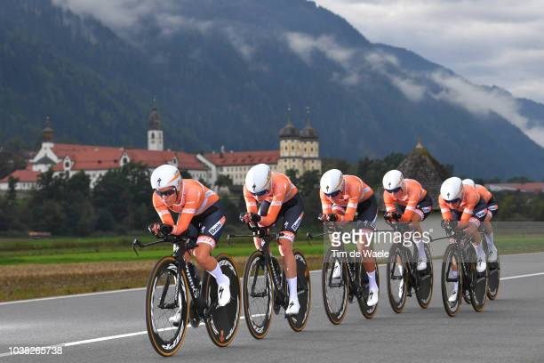 Chantal Blaak of The Netherlands / Karol-Ann Canuel of Canada / Amalie Dideriksen of Denmark / Christine Majerus of Luxembourg / Amy Pieters of...