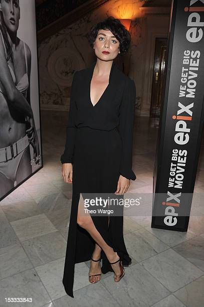 Chantal Chadwick attends EPIX Presents the Premiere screening of Everything or Nothing The Untold Story of 007 at MOMA on October 3 2012 in New York...