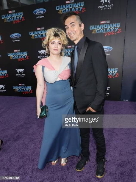 "Chantal Claret and Jimmy Urine at The World Premiere of Marvel Studios' ""Guardians of the Galaxy Vol 2"" at Dolby Theatre in Hollywood CA April 19th..."
