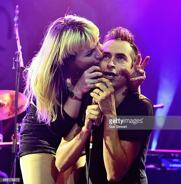 Chantal Claret and Jimmy Urine perform on stage at KOKO on November 10 2014 in London United Kingdom