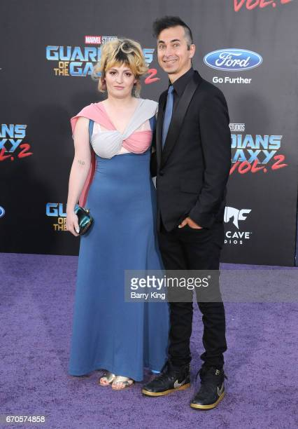 Chantal Claret and singer Jimmy Urine attend world premiere of Disney and Marvel's' 'Guardians Of The Galaxy 2' at Dolby Theatre on April 19 2017 in...