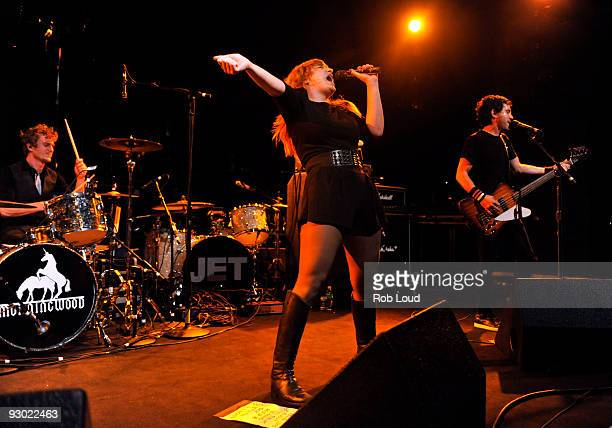 Chantal Claret of the band Morningwood performs at Nokia Theatre on November 12 2009 in New York City