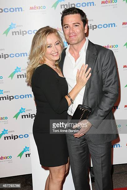 Chantal Craig and Yannick Bisson arrive at the MIPCOM opening Party at Hotel Martinez on October 13 2014 in Cannes France