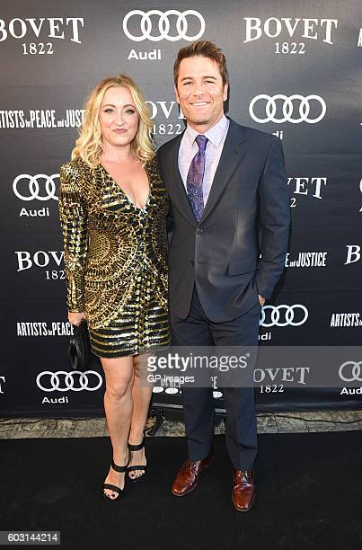 Chantal Craig and Yannick Bisson attend The Artists For Peace and Justice Gala at Casa Loma on September 11 2016 in Toronto Canada