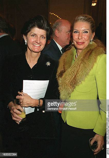 Chantal De Bourbon Parme and the baroness Ameil Fava gala in Paris