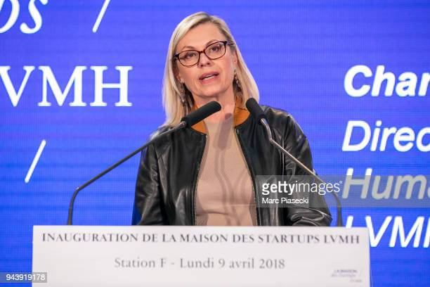 Chantal Gaemperle attends the 'LVMH StartUp Accelerator' opening ceremony at 'Station F' on April 9 2018 in Paris France