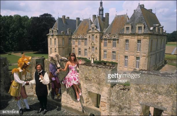 Chantal Goya and Jean Jacques Debout Ch¿teau de SaintLoup 1986