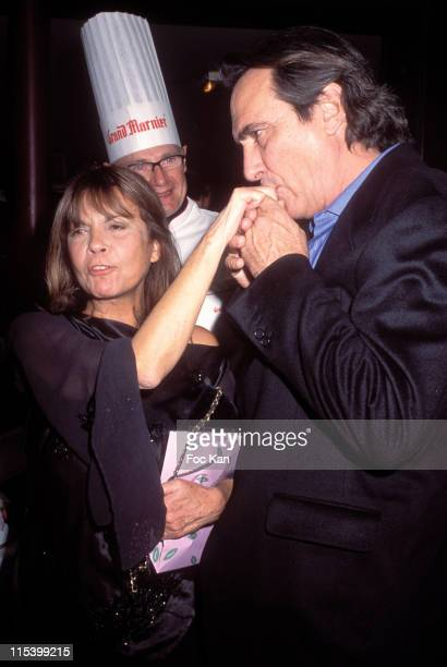 Chantal Goya and Philippe Lavil during Eddie Barclay birthday Party at Club Les Bains in Paris France