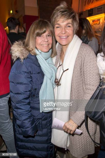 Chantal Goya and Veronique Jannot attend 'Enooormes' Paris Premiere at Theater Trevise on January 12 2018 in Paris France