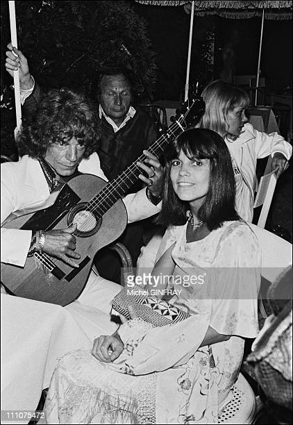 Chantal Goya Manitas de Plata at the 34th birthday of Johnny Hallyday in France on June 15th 1977