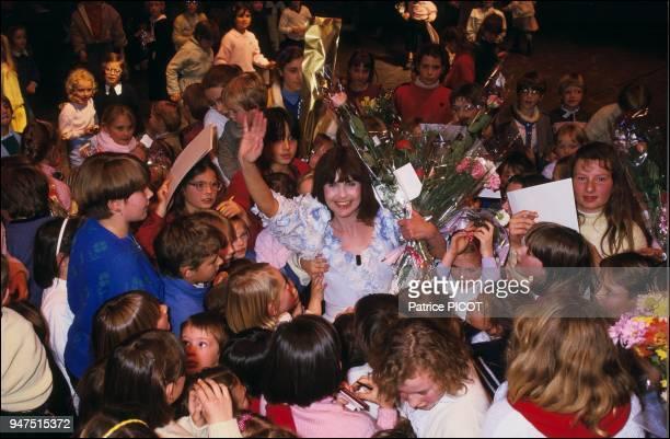 Chantal Goya show in the Ch¿teau de SaintLoup 1986