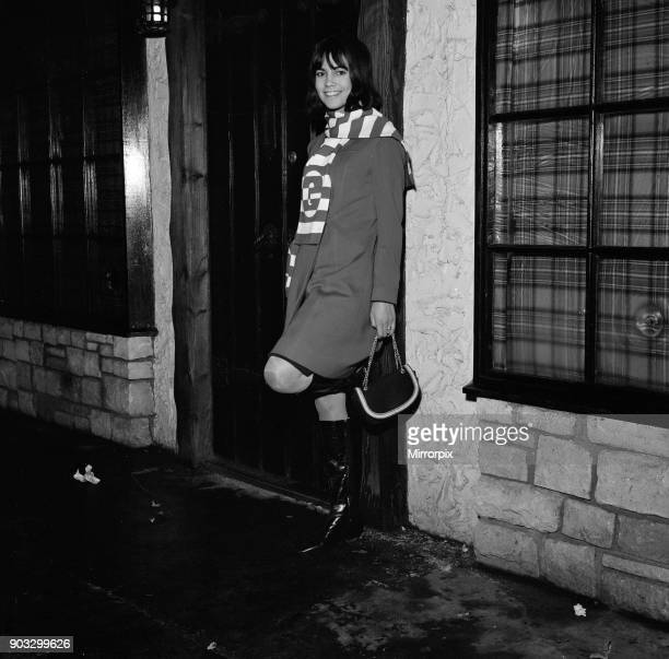 Chantal Goya young French pop star pictured in London outside a night cub Picture taken on 16th November 1965 Later this week on the 18th November...