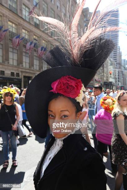 Chantal Hill of Chicago takes part in the Easter Parade on Fifth Avenue on April 16 2017 in New York City USA