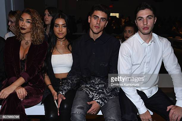 Chantal Jeffries Madison Beer Jack Gilinsky and Atlas Black attend the Erin Fetherston fashion show during New York Fashion Week The Shows September...