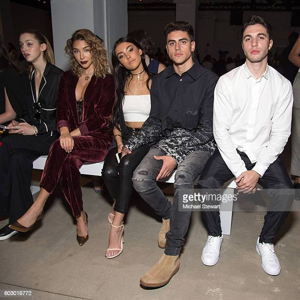 Chantal Jeffries Madison Beer Jack Gilinsky and Black Atlas attend the Erin Fetherston fashion show during September 2016 New York Fashion Week at...