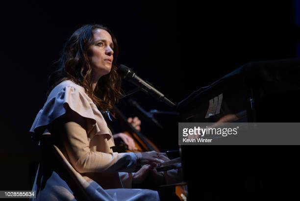 Chantal Kreviazuk performs during the Sharkwater Extinction premiere during the 2018 Toronto International Film Festival at Roy Thomson Hall on...