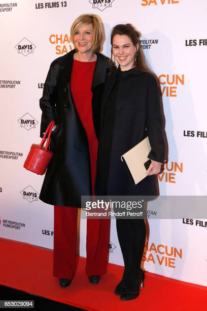 Chantal Ladesou and daughter Clemence Ansault attend the Chacun sa vie Paris Premiere at Cinema UGC Normandie on March 13 2017 in Paris France