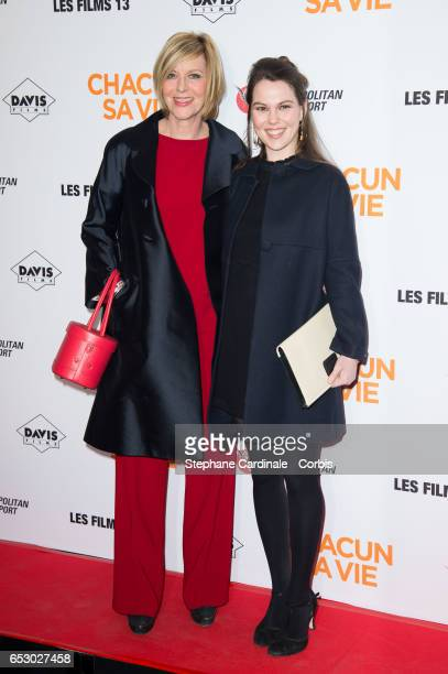 Chantal Ladesou and her daughter Clemence Ansault attend the Chacun Sa vie Paris Premiere at Cinema UGC Normandie on March 13 2017 in Paris France