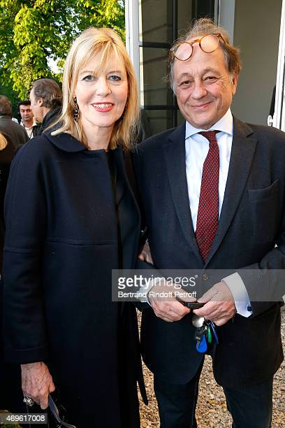 Chantal Ladesou and her husband Michel Ansault attend Museum Paul Belmondo celebrates its 5th Anniversary on April 13 2015 in BoulogneBillancourt...