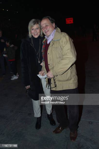Chantal Ladesou and her husband Michel Ansault attend Patrick Bruel Show at Paris La Défense Arena on December 07 2019 in Paris France
