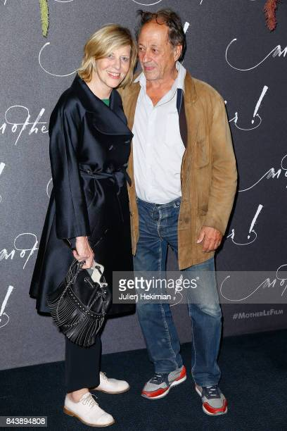 Chantal Ladesou and her husband Michel Ansault attend the French Premiere of mother at Cinema UGC Normandie on September 7 2017 in Paris France