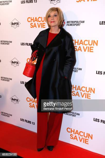 Chantal Ladesou attends the 'Chacun sa vie' Paris Premiere at Cinema UGC Normandie on March 13 2017 in Paris France