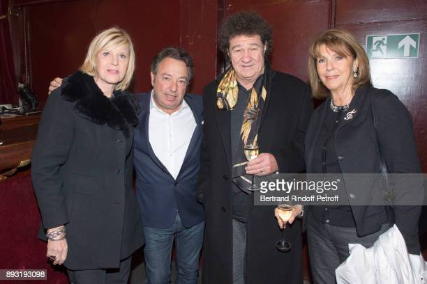 Chantal Ladesou Frederic Jerome Robert Charlebois and his wife Laurence attend Michel Leeb 40 ans Theater Show at Casino de Paris on December 14 2017...