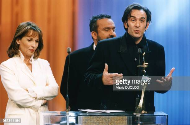 Chantal Lauby Dominique Farrugia et Robin Renucci le 27 janvier 1997 à Paris France