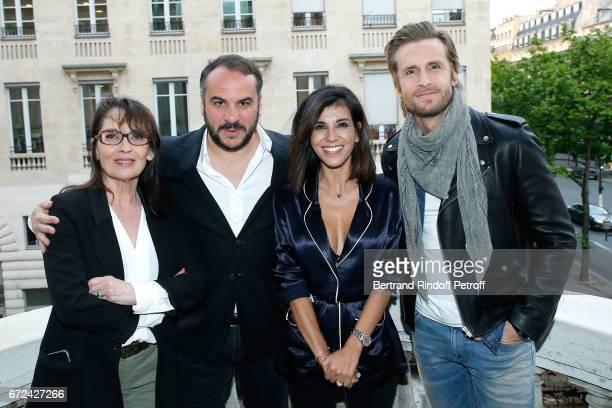 Chantal Lauby FrancoisXavier Demaison Director of the movie Reem Kherici and Philippe Lacheau attend the Jour J Paris movie Premiere on April 24 2017...