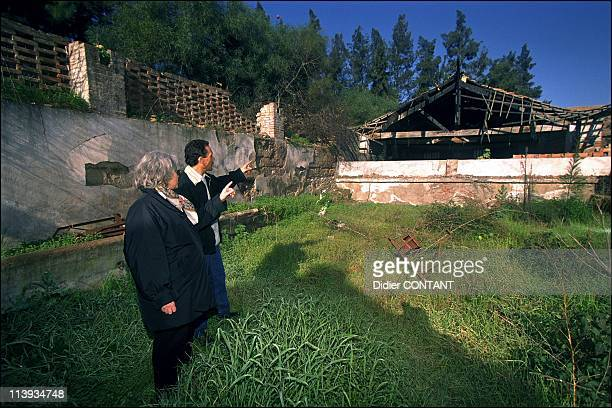 Chantal Lefevre a woman and bookstore owner in Blida Algeria In February 2003An orange grove burnt to the ground by muslim fundamentalists