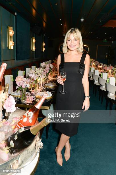 Chantal Piper attends a Valentine's Day dinner hosted by PerrierJouet Champagne and Atelier Romy at IT London on February 12 2020 in London England