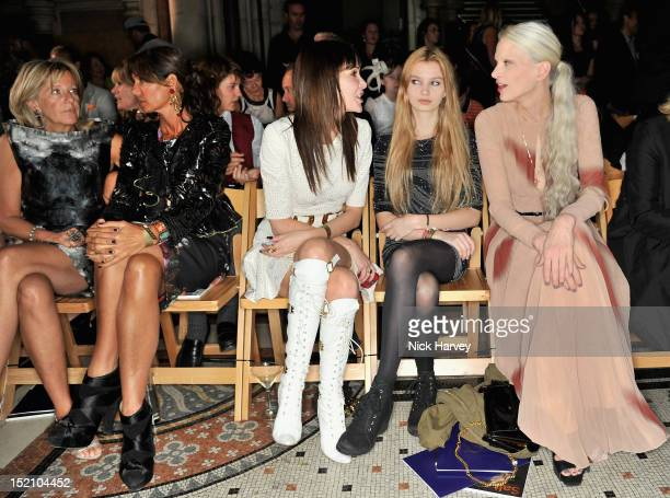 Chantal Princess of Hanover Countess Debbie von Bismarck Annabelle Nielsen and Kristen McMenamy with her daughter attend the front row for the Philip...