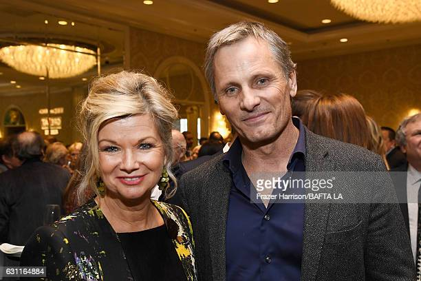 BAFTA LA CEO Chantal Rickards and actor Viggo Mortensen attend The BAFTA Tea Party at Four Seasons Hotel Los Angeles at Beverly Hills on January 7...